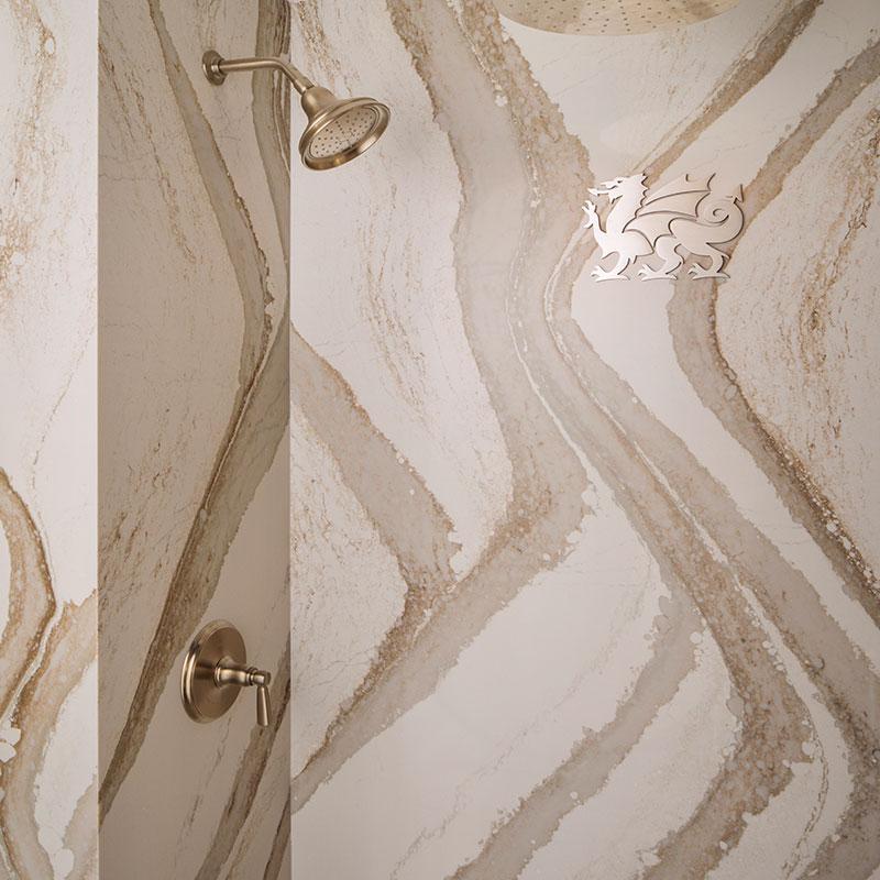 Rouleau granit - douche Cambria