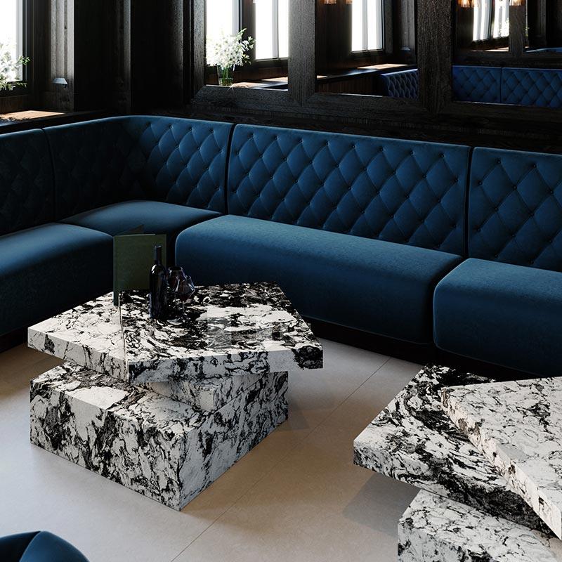 Rouleau granit - meubles de salon Cambria