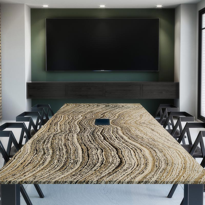 Rouleau granit - table de conférences Cambria