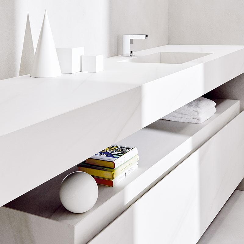 Rouleau granit - Salle de bain Laminam
